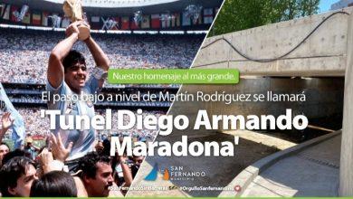 """Photo of Un túnel llevará el nombre de """"Diego Armando Maradona"""""""