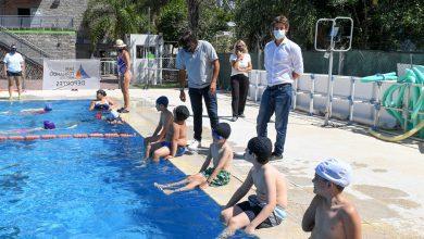 Photo of Juan Andreotti visitó la colonia del Polideportivo Nro 3