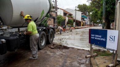 Photo of Obras de pavimentación en la calle Castelli