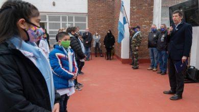 Photo of Posse tomó a alumnos la promesa a la Bandera