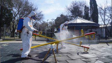 Photo of Operativo de desinfección en la Plaza Ader de Villa Adelina