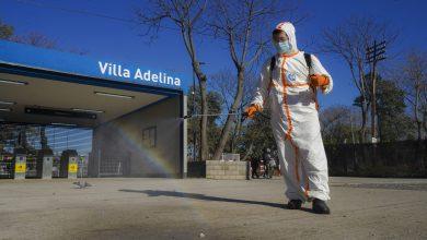 Photo of Operativo de desinfección en la Estación Villa Adelina