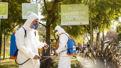 Photo of Operativo de desinfección en Plaza Amigos de Florida