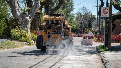Photo of Obras de pavimentación en la calle Rivadavia
