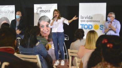 Photo of Julio y Gisela Zamora, junto a sus candidatos en Los Troncos